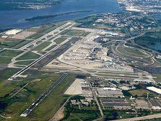 Aerial view of Philadelphia's International airport