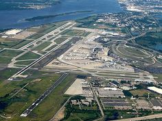 Aerial view of Philadelphia's International airport
