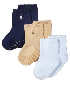 New Polo Ralph Lauren Rugby Sport Ped Socks 3-Pack You Choose!