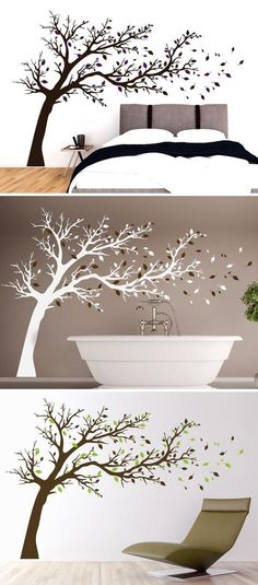 Sleeping moon smiles the whole night because he knows what is hidden behind the loving face! If you are in the dark the l - Wall decoration bathroom - Wall Stickers, Wall Decals, Wand Tattoo, Wall Painting Decor, House Front Door, Wall Drawing, Nature Wallpaper, Cool Walls, Totoro