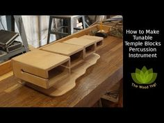 How to Make Tunable Temple Blocks - Percussion - Musical Instrument Percussion Musical Instruments, Block Plan, Used Power Tools, Preschool Music, Baltic Birch Plywood, Woodworking Projects, Temple, Musicals, How To Plan