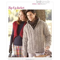 Man's zip-up jacket from Vogue Knitting