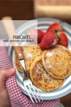 Easy Pancake Recipe with Leftover Bread!