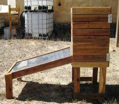 Interns of The Solar Living Institute: Solar Dehydrator