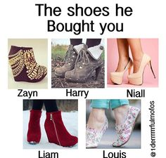 NIALL NO THOSE ARE HIDEOUS... Zayn and Liam, what planet do you come from? goodness... I'll take a Louis (: