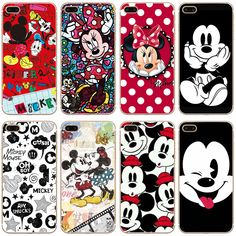 G77 Christmas Mickey Minnie Transparent Hard Thin Case Cover For Apple iPhone 4 4S 5 5S SE 5C 6 6S 7 8 X Plus