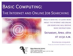 Love this flyer Epps Memorial Library made to promote their BasicComputing training.