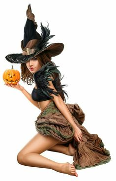 🌺🌻✿ ❀ ❁✿ For more great pins go to Halloween Pin Up, Halloween Pictures, Vintage Halloween, Halloween Witches, Halloween Ideas, Fantasy Witch, Witch Art, Witch Tattoo, Beautiful Witch