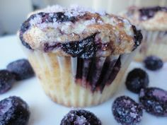 Eat Cake For Dinner: Old-Fashioned Blueberry Muffins- delicious! The kids ate them up. They are very moist too. Don't skip the topping, the muffins need the sweetness.