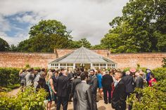 Sunshine and champagne!  The perfect location for a canape and drinks reception in the maze at Combermere Abbey  photo by tobiah tayo photography -  available for commissions worldwide  www.tobiahtayo.com
