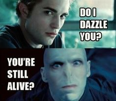 Voldemort is not amused..Not a twilight fan but this made me giggle.