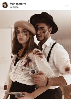 Halloween Costume Bonnie and Clyde