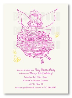 Nice invite for Fairy Princess Party