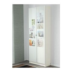 """IKEA - BILLY / MORLIDEN, Bookcase, white, 31 1/2x79 1/2x11 3/4 """", , Adjustable shelves can be arranged according to your needs.You can give your door a personal touch by placing photos or fabric between the glass and the panel.Adjustable hinges allow you to adjust the door horizontally and vertically."""