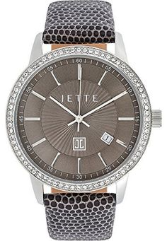 JETTE-Time-Damen-Armbanduhr-REFLECTION-Analog-Quarz-One-Size-taupe-braun