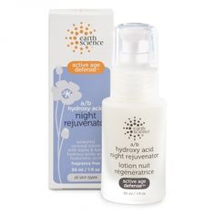 A/B Hydroxy Acid Night Rejuvenator: Scientifically formulated to rejuvenate skin overnight. Fortified with a blend of alpha and beta hydroxy acids and hyaluronic acid to fight the appearance of aging. Plant-derived emollients add moisture to keep skin smooth, firm and supple. Wake up with fresh skin, today. pH 3.5 / Unscented / Vegan