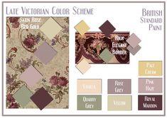 Victorian era color palette historic paint colors - Late victorian wallpaper ...