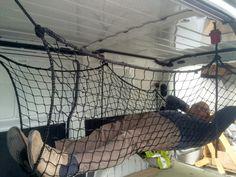 Image result for cargo net hammock