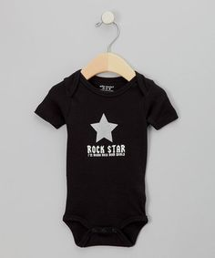 Look at this #zulilyfind! Silly Souls Black 'Rock Star' Bodysuit - Infant by Silly Souls #zulilyfinds