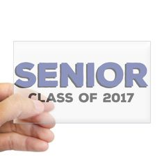 CafePress - Senior Class 2017 - Blue Sticker (Rectangle) - Rectangle Bumper Sticker Car Decal *** Want to know more, click on the image.