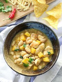 Easy White Bean Chicken Chili on foodiecrush.com