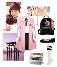 """""""Mahoutokoro- Yoko Watanabe"""" by maddigrace-ccc ❤ liked on Polyvore featuring Alice + Olivia, Mulberry, Pauline Trigère and Unis"""
