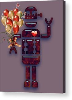 Robot Acrylic Print featuring the mixed media Robot Collection by Marvin Blaine