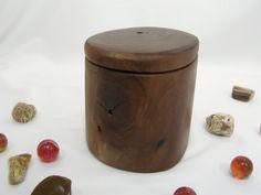 Black Walnut Tree Branch Box, small pet urn, cremation, wood art, 5th anniversary, retirement gift, wood jewelry box, office desk organizer by earnestefforts on Etsy