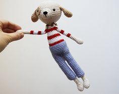 Uncinetto cane giocattolo - Amigurumi cane - Crochetted giocattolo animale
