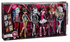 Online Exclusive: Monster High Dolls Original Ghouls Collection 6 Pack - Does NOT Come with Pets!