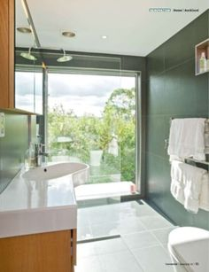 Master ensuite, yes the glass is reflective.