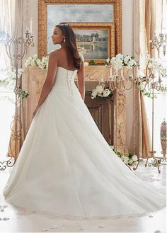 7848751e1fbb5 Buy discount Marvelous Organza Sweetheart Neckline A-line Plus Size Wedding  Dresses With Beadings at