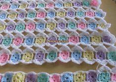 one-round Granny crochet blanket Crochet Afghans, Crochet Baby Blanket Free Pattern, Crochet Quilt, Afghan Crochet Patterns, Crochet Squares, Crochet Granny, Filet Crochet, Crochet Stitches, Crochet Crafts