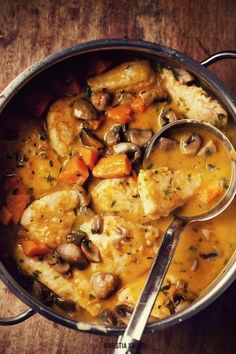 #Chicken, mushroom and pumpkin stew: #Soup