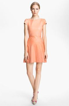 Alice + Olivia Leather A-Line Dress available at #Nordstrom