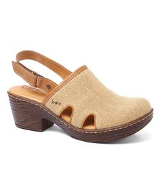 This Coffee Stripe Canvas Lyza Clog by b.o.c is perfect! #zulilyfinds