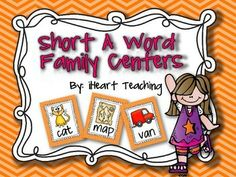 Short A Word Family Centers!  Centers for 3 word families: -at, -ap, -an! All hands-on activities that make learning fun!