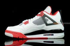 Air Jordan 4 'White/Varsity Red-Black'