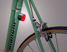 magnetic bike lights / Would be great to find when i have to bike through town to get to a trail.