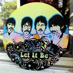 Beatles Record Art Let It Be Made To Order by tigerbee on Etsy