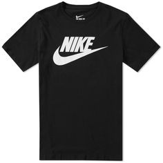 Buy the Nike Futura Icon Tee in Black & White from leading mens fashion retailer END. - only Fast shipping on all latest Nike products Nike T Shirts Women's, Nike T Shirt Mens, Buy Shirts, Camisa Nike, Estilo Nike, Black Nike Shirt, Nike Clothes Mens, Black And White Nikes, Cute Comfy Outfits