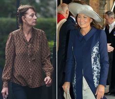 Carole Middletons, October 23, 2013, the day of Prince George's Christening