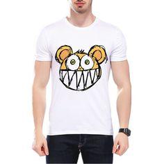 2017 Fashion High Quality Men T Shirt Punk Radiohead Logo Bear Funny T Shirts Cool Rock Roll Tops Tees Camisetas Hombre L9O18 #Affiliate