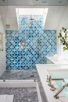 77 Fabulous Modern Farmhouse Bathroom Tile Ideas 51