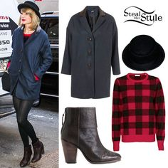 Taylor Swift: Boyfriend Coat, Brown Boots Taylor Swift Outfits, Taylor Swift Style, Taylor Alison Swift, Out Of Style, Her Style, Boyfriend Coat, Brown Boots, Going Out, Singer