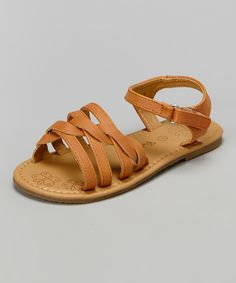 look at this #zulilyfind! camel strap Tracy sandal by Betani #zulilyfinds