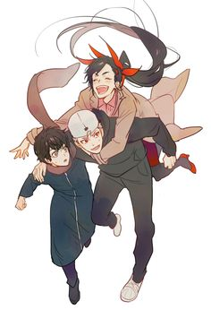 This would be a nearly unstoppable trio. Manga Anime, Comic Manga, Anime Art, Manhwa, Fanart, Yuri, Character Art, Character Design, Anime Group