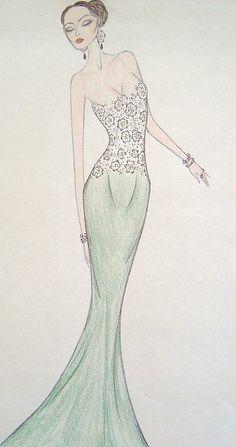 Lace Mint Dress, http://christine-corretti.artistwebsites.com