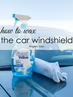Making your car water repellent is easier than you think. Even better, I have some easy tips on how to wax a car windshield.