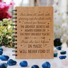 Roald Dahl: Those who don't believe in magic will never find it - Personalized Wooden Notebook - Large / Okoume